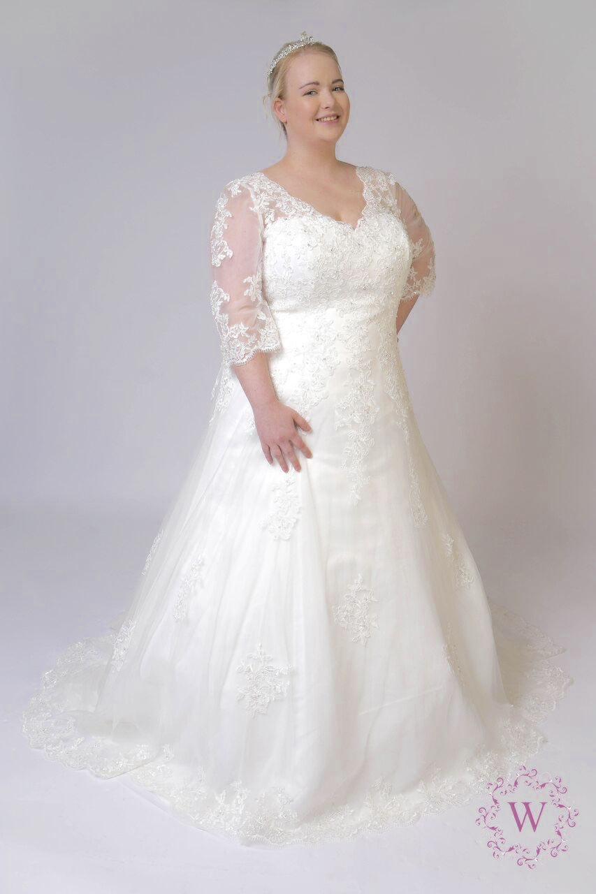 Curvy brides bridal factory outlets for Wedding dresses for larger sizes